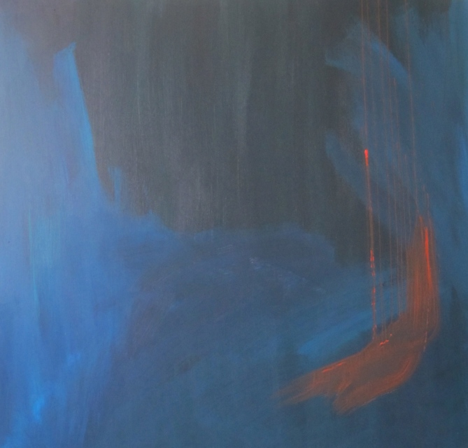 """Tango"" akryyli kankaalle 2011 (149x160cm) Tom Lönnqvist"