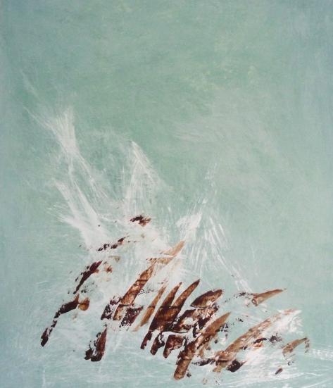 """Untitled 2"" akryyli kankaalle 2011 (149x128cm) Tom Lönnqvist"