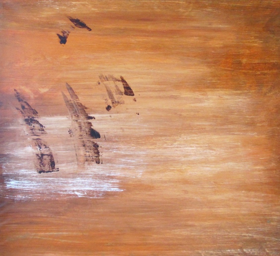 """""""Ruskan vesi"""" akryyli kankaalle 2010  (133x144,5cm) Tom Lönnqvist"""